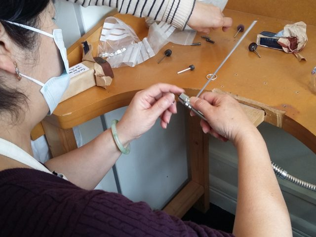 Shelanu member is using their new tool the pendant drill
