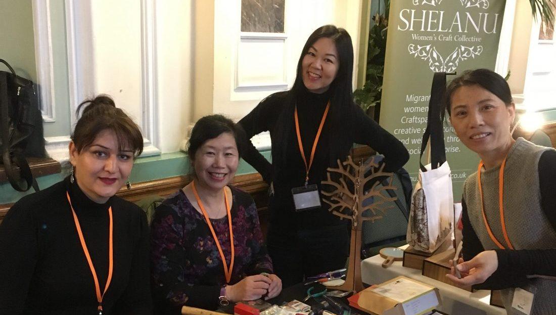 Shelanu Group at the stamp metal key ring workshop