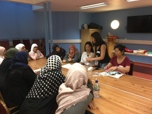 Shelanu explaining workshop