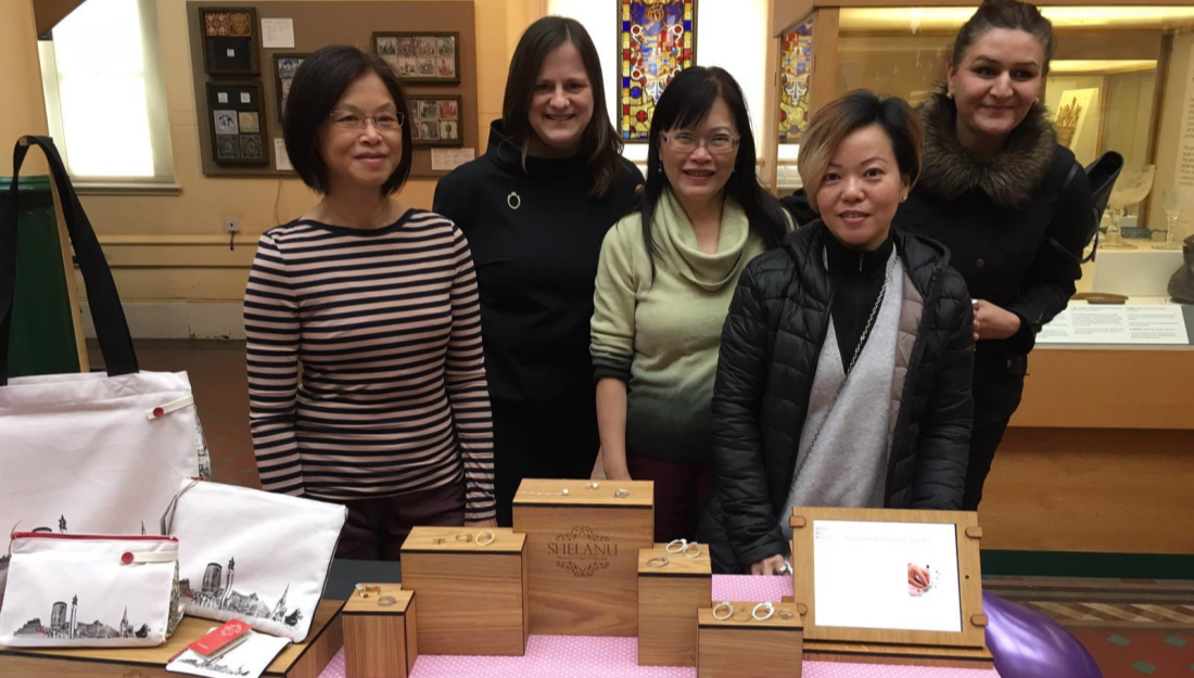 shelanu members and emma daker from craftspace together